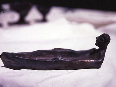 Black boat figure